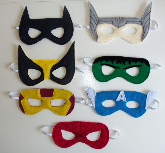 Cutesy Crafts Superhero Masks
