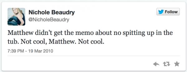 first tweet nichole